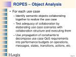 ropes object analysis