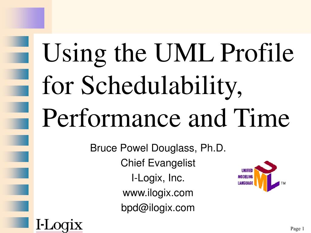 using the uml profile for schedulability performance and time l.