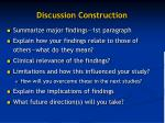 discussion construction