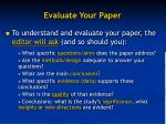 evaluate your paper