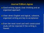 journal editors agree