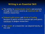 writing is an essential skill
