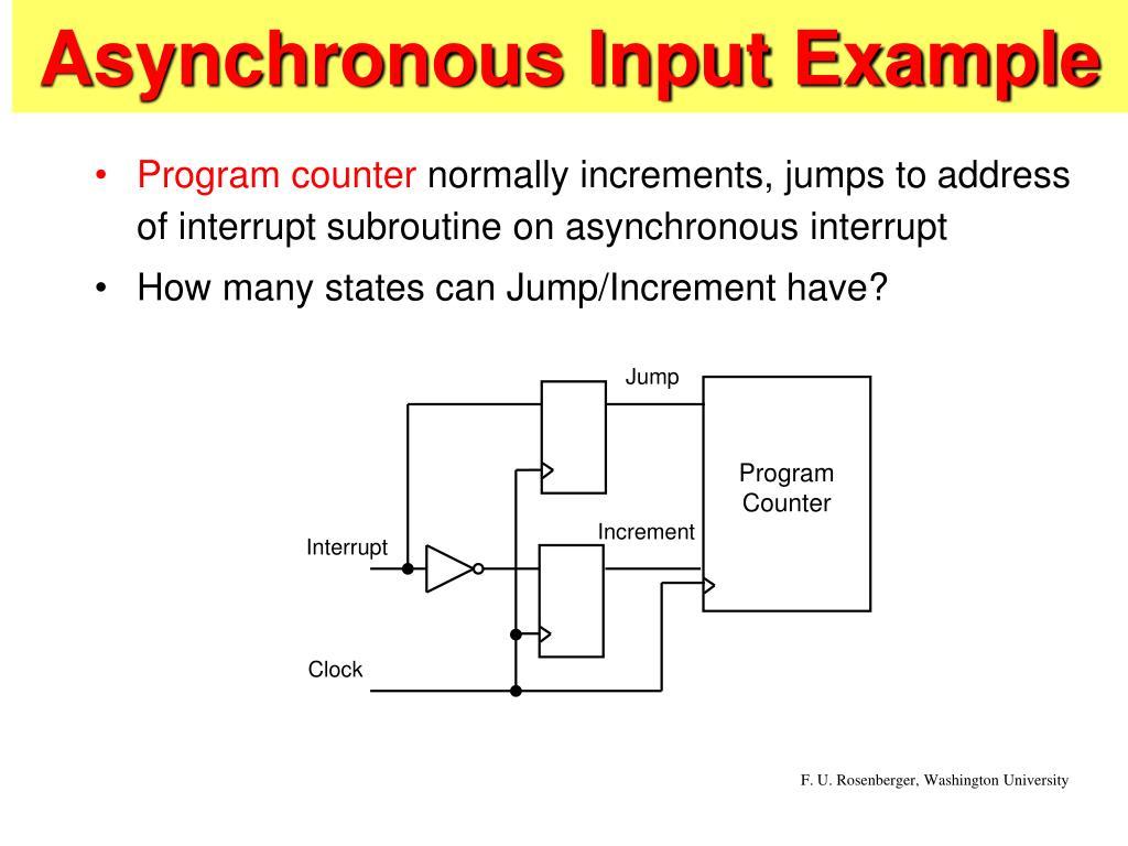 asynchronous input example l.