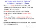 why metastability is a special problem charles e molnar