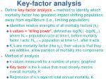 key factor analysis