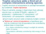 trophic structure adds a third set of complex interactions among species