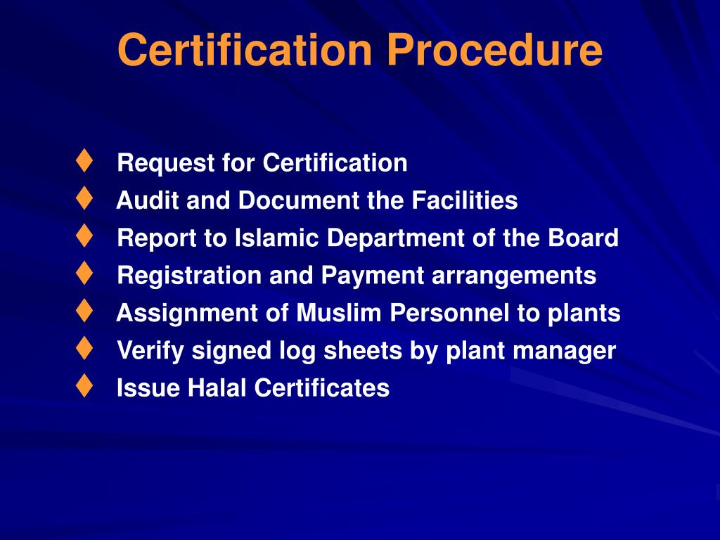Certification Procedure