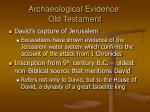 archaeological evidence old testament38