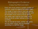 bibliographic evidence copying manuscripts15
