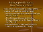 bibliographic evidence new testament stats9