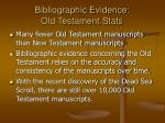 bibliographic evidence old testament stats