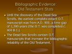bibliographic evidence old testament stats13
