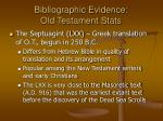 bibliographic evidence old testament stats23