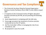 governance and tax compliance
