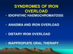 syndromes of iron overload