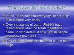 what does the torah teach
