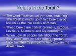 what s in the torah