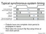 typical synchronous system timing