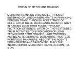 origin of merchant banking