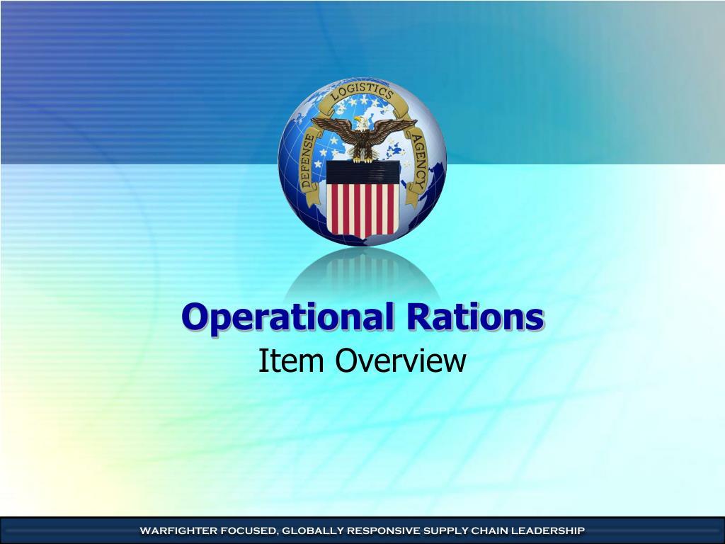 operational rations l.