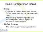 basic configuration contd