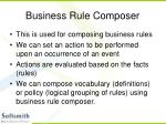 business rule composer