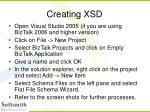 creating xsd