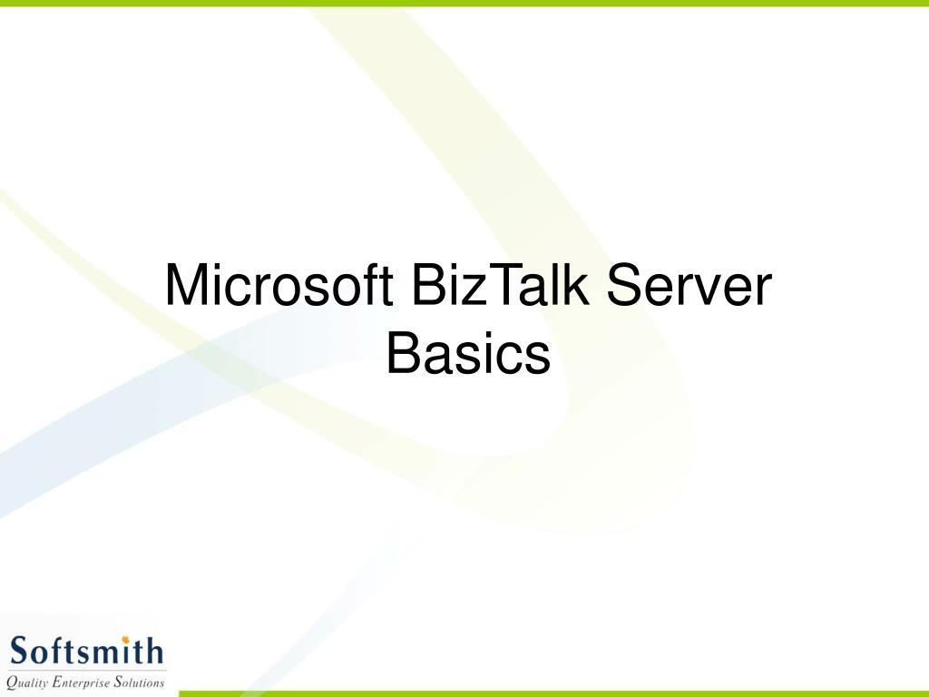 microsoft biztalk server basics l.