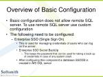 overview of basic configuration