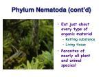 phylum nematoda cont d20