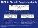 tropic phase iii registration study