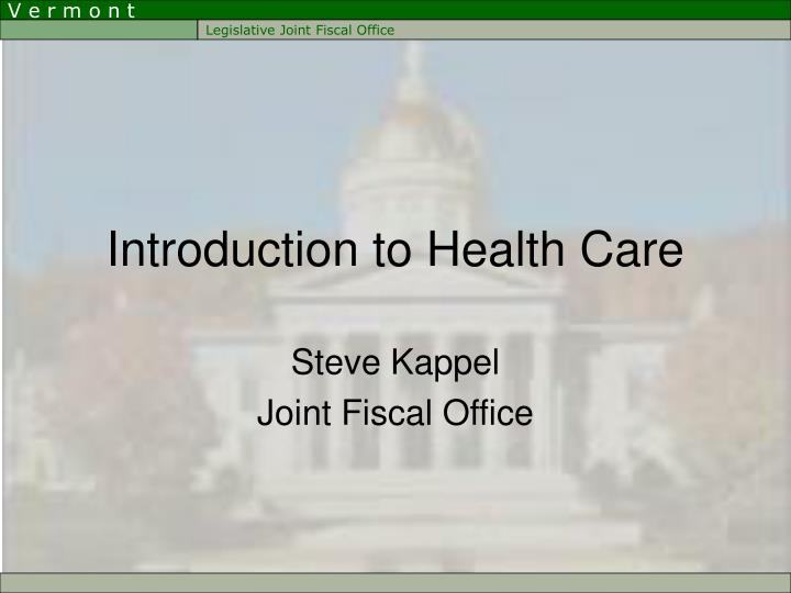 introduction to health care n.