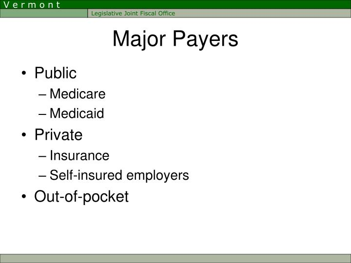 Major Payers