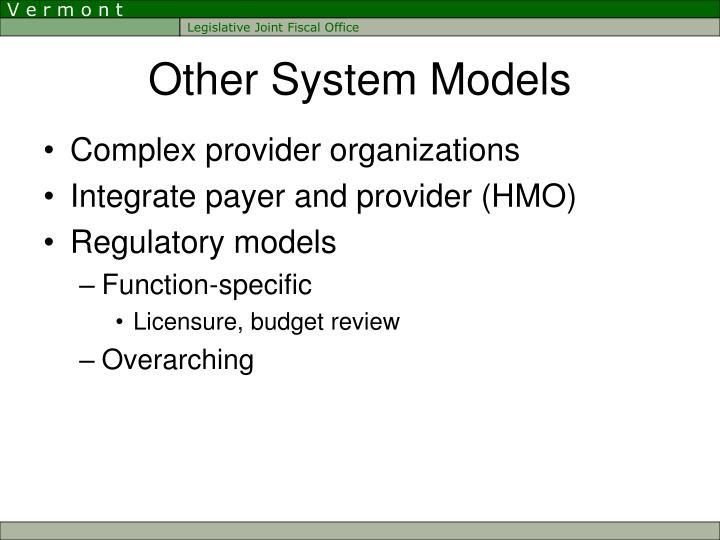 Other System Models