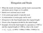 elongation and strain