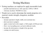 testing machines