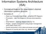 information systems architecture isa
