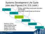 systems development life cycle see also figures 2 4 2 5 cont19