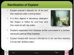 sterilization of explant