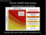 human health heat waves more frequent and intense