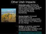other utah impacts