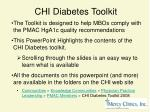 chi diabetes toolkit