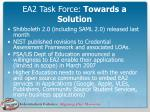 ea2 task force towards a solution