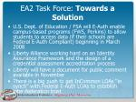 ea2 task force towards a solution33