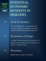 potential economic benefits in mergers