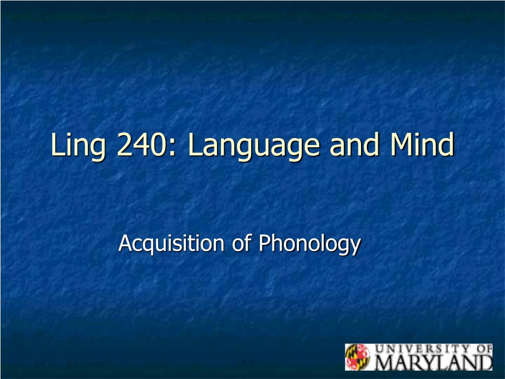 ling 240 language and mind l.