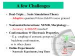 a few challenges