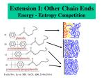 extension i other chain ends energy entropy competition