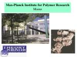 max planck institute for polymer research mainz