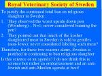 royal veterinary society of sweden